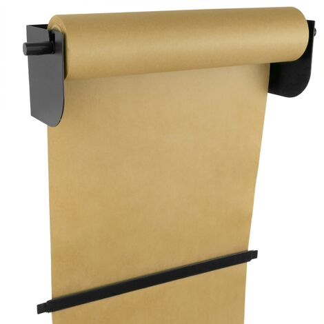 PrimeMatik - Wallmount roll holder. Dispenser of wrapping paper in coils up to 18 inches (46 cm)
