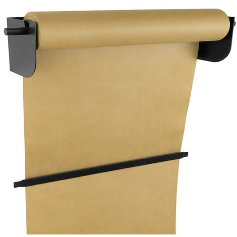 PrimeMatik - Wallmount roll holder. Dispenser of wrapping paper in coils up to 24 inches (62 cm)
