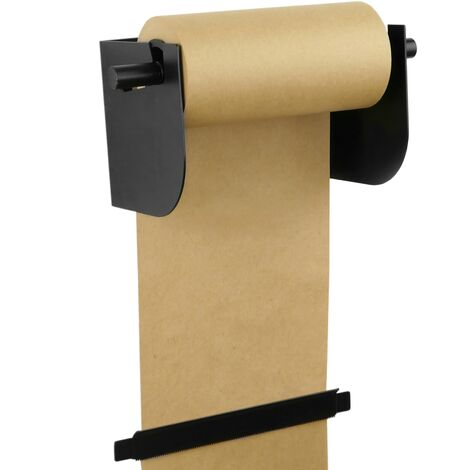 PrimeMatik - Wallmount roll holder. Dispenser of wrapping paper in coils up to 8 inches (21 cm)