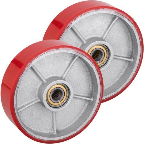 PrimeMatik - Wheel for pallet truck polyurethane roller 200x50 mm 950 Kg 2-pack