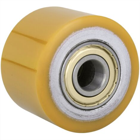 PrimeMatik - Wheel for pallet truck Polyurethane roller 80x70 mm 1200 Kg