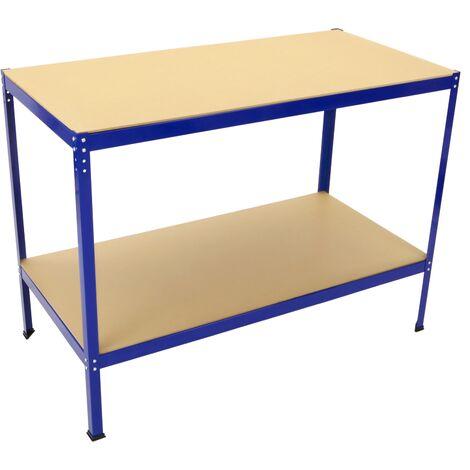 "main image of ""PrimeMatik - Worktable for workshop. Metal Workbench with 2 x MDF board. 275 Kg"""
