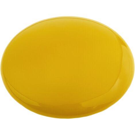 PrimeMatik - Yellow round ceramic road reflector 10cm