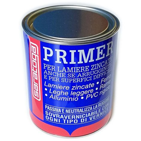Primer per lamiera zincata alluminio superfici difficili