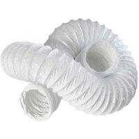 """Primero FDT100 4"""" White Flexible PVC Ducting - 3 Metres"""