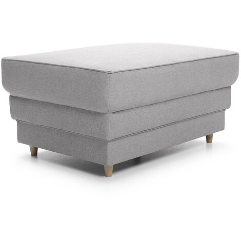 Primo Footstool - color Light Grey