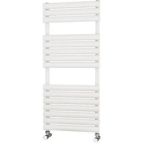 Primus Eclipse White Designer Towel Rail 1100mm x 500mm - Dual Fuel - Standard