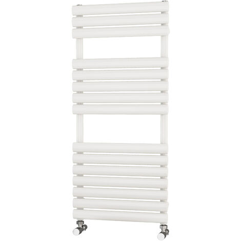 Primus Eclipse White Designer Towel Rail 1100mm x 500mm - Electric Only - Thermostatic