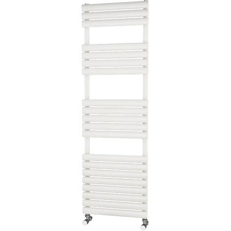 Primus Eclipse White Designer Towel Rail 1600mm x 500mm - Dual Fuel - Standard
