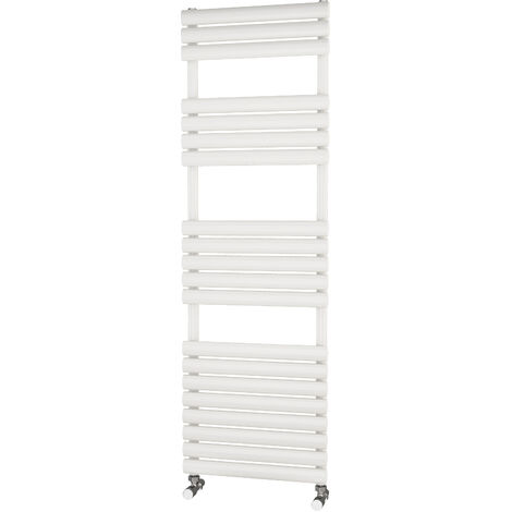 Primus Eclipse White Designer Towel Rail 1600mm x 500mm - Electric Only - Thermostatic