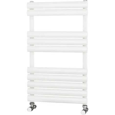 Primus Eclipse White Designer Towel Rail 800mm x 500mm - Dual Fuel - Thermostatic