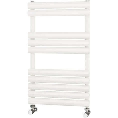 Primus Eclipse White Designer Towel Rail 800mm x 500mm - Electric Only - Thermostatic
