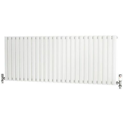 "main image of ""Primus Elliptical Tube Steel White Horizontal Designer Radiator 600mm x 1520mm Single Panel - Electric Only - Thermostatic"""