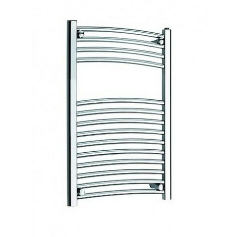 """main image of """"Primus New 25mm Steel Curved Chrome Heated Towel Rail 400mm x 800mm"""""""