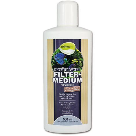 primuspet Natürliches Filtermedium (Wasseraufbereiter für kristallklares und natürlich gesundes Aquariumwasser. Entfernt Mulm und Schlamm im Aquarium)