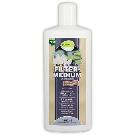 primuspet Natürliches Gartenteich Filtermedium POND (Natürlicher Wasseraufbereiter für kristallklares, gesundes Wasser. Entfernt Mulm und Teichschlamm)