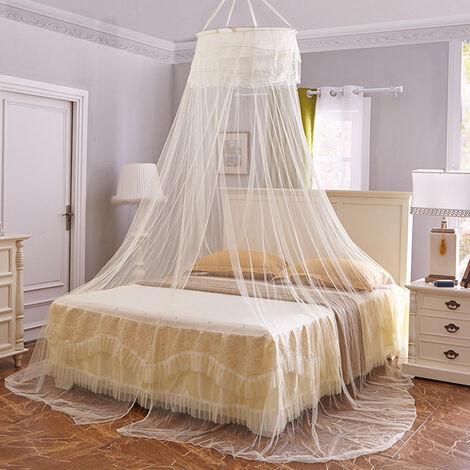 Princesse installation gratuite de moustiquaire anti-moustique cryptee rehaussant la moustiquaire au plafond rond taille universelle, violet clair
