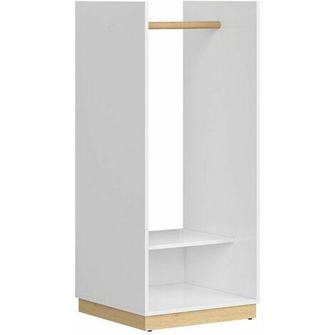 PRINCESSO - Porte-manteaux style scandinave chambre d'ado/couloir - 129.5x55.5x54 - 1 tablette - Armoire   Blanc - Blanc
