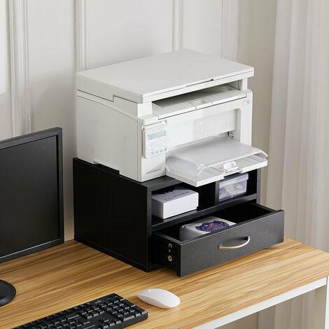 Printer Stand Storage Rack Shelf Drawer Workspace Desk Organizer Office Home - White