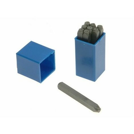 Priory PRI1808 180- 8.0mm Set of Number Punches 5/16in