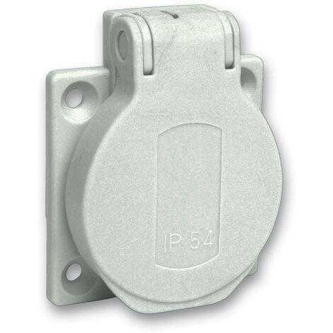 Prise 2P+T avec clapet Schneider Electric PKS51G gris simple