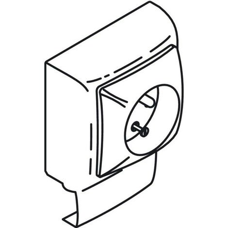 Prise 2P+T saillie 1P pour moulures Keva 32x12mm cadre simple équipé de mécanisme Appareillage Saillie de Legrand ASL (11920)