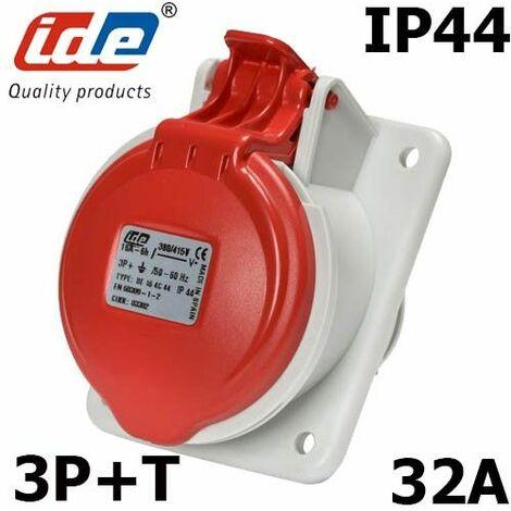 Prise 32A de tableau triphasée 3P+T 380V étanche IP44