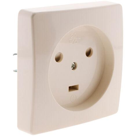 alimentation électrique d'un point de cuisson Prise-a-encastrer-20a-2p-t-blanc-zenitech-P-480405-2010914_1