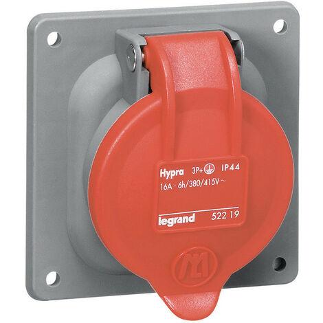 Prise à entraxes unifiés fixe Hypra IP44 32A 380V~ à 415V~ 2P+T plastique (052918)