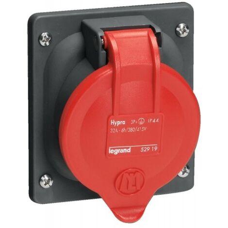 Prise à entraxes unifiés fixe Hypra IP44 32A - 380V~ à 415V~ - 3P+N+T - plastique