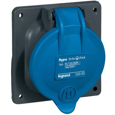 Prise à entraxes unifiés Hypra IP44 16A 200V~ à 250V~ 3P+N+T plastique (052020)