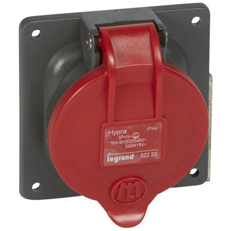 Prise à entraxes unifiés Hypra IP44 16A 380V~ à 415V~ 3P+N+T plastique (052220)