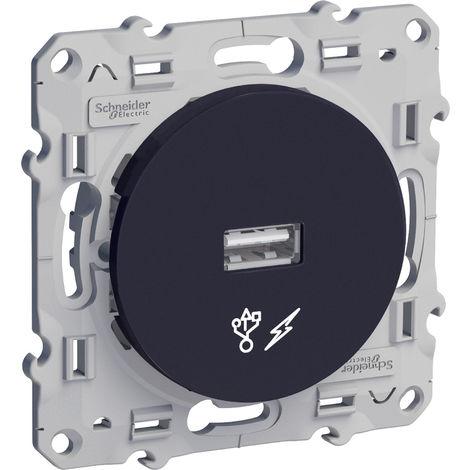 "main image of ""Odace, prise alimentation USB 5V Anthracite (S540408)"""
