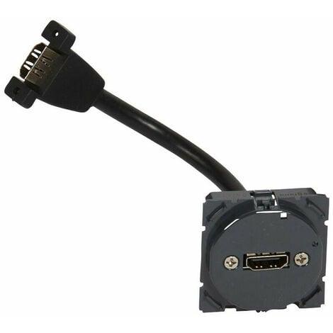 Prise audio/vidéo HDMI type A Céliane - pré-connectorisée (067377)