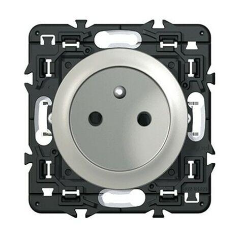 Prise borne automatique Complet Céliane non affleurante - 2P+T 16A - Titane