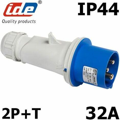 Prise CEE Male 2P+T 32A IP44 ou IP67