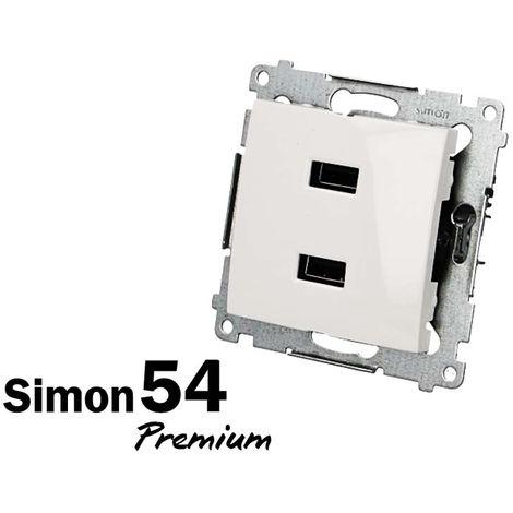 Prise chargeur USB double Simon Premium