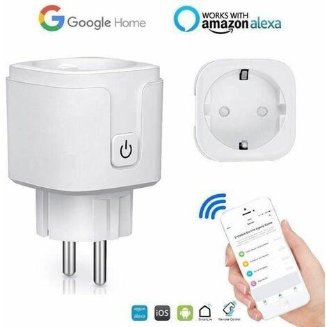 "main image of ""Prise Connectée Wifi, 16A Compatible avec Android iOS Amazon Alexa Google Home Assistant, Courant Programmable Télécommande App - OS8002"""
