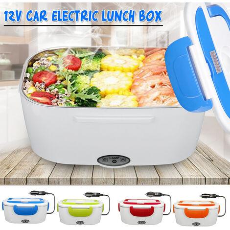 Prise d'adaptateur de voiture portable 12V Bo?te à lunch électrique Chauffe-bento chauffant (bleu)