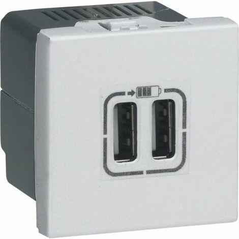 Prise de chargeur universel USB Mosaic - 230 V - Aluminium - 12 W - Legrand