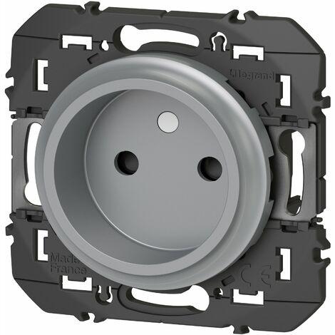 Prise de courant - 2P - À puits - Dooxie - 16A - Aluminium - Legrand