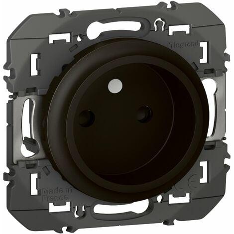 Prise de courant - 2P - À puits - Dooxie - 16A - Noir - Legrand