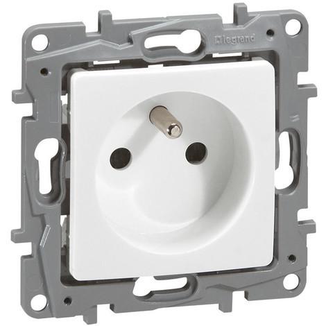 Prise de courant 2P+T à bornes automatiques - Niloé One - Blanc pur - 664735 - Legrand