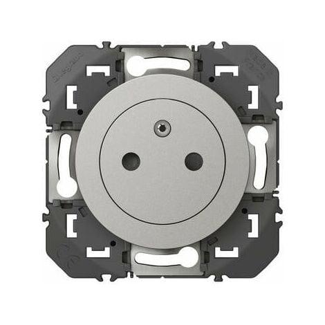Prise de courant - 2P+T - Affleurante Dooxie - 16A - Aluminium - Legrand