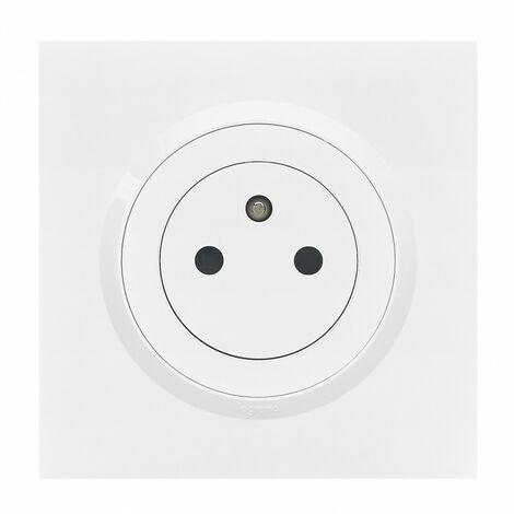Prise de courant - 2P+T - Affleurante Dooxie - 16A - Complet - Blanc - Legrand