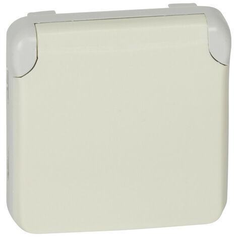 Prise de courant 2P+T avec contact latéral de terre Plexo composable IP55 16A 250V blanc (069640)