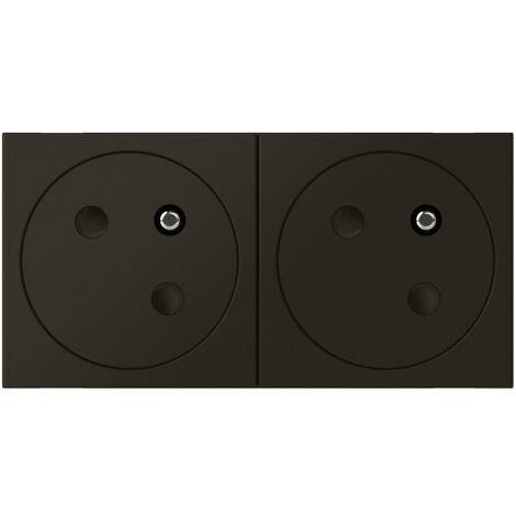 Prise de courant 2P+T mosaic link 4m fb noir mat surface (079192L)
