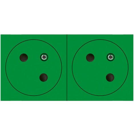Prise de courant 2P+T mosaic link 4m fb vert surface (077162L)