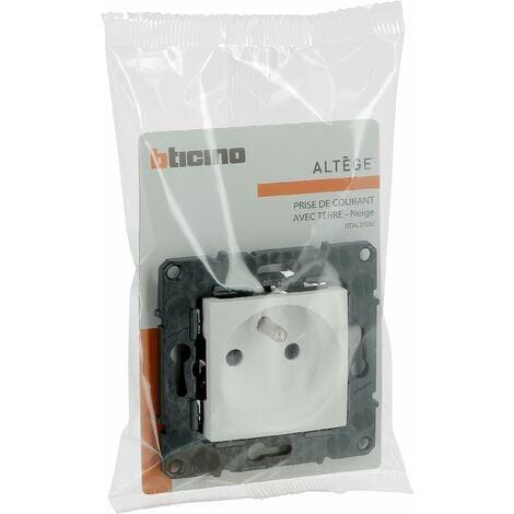 Prise de courant Altège 16A - Connexion à borne automatique - Neige - Bticino
