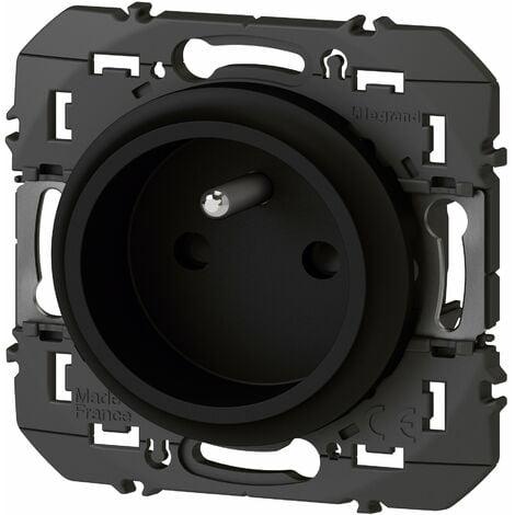 Prise de courant easyréno 2P+T faible profondeur Dooxie 16A - Noir - Legrand